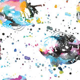 Watercolor galaxy background. Stock Images