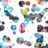 Watercolor galaxy background. Royalty Free Stock Image