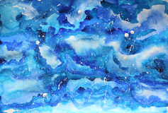 Watercolor galaxy illustration. Stock Images