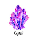Watercolor gems Royalty Free Stock Image