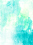 Watercolor gentle green abstract   wash  drawing  background for Royalty Free Stock Photo