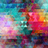 Watercolor geometric background with triangles Stock Photo