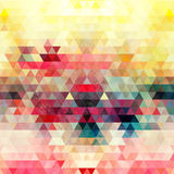 Watercolor geometric background with triangles Royalty Free Stock Photography