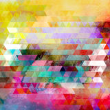 Watercolor geometric background with triangles Royalty Free Stock Photos