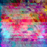 Watercolor geometric background with triangles Stock Photography