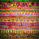 Watercolor geometric ornamental pattern, digital Stock Image