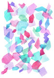 Watercolor geometric pattern Royalty Free Stock Images