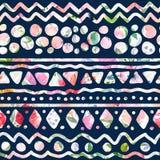 Watercolor geometric pattern Stock Photos