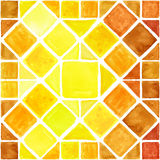 Watercolor geometric seamless pattern.Brown,Yellow. Watercolor geometric abstract  seamless pattern background .Colorful modern texture.Triangle,rhombus and Royalty Free Stock Photos