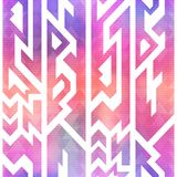 Watercolor geometric seamless pattern vector illustration