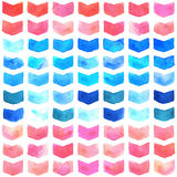 Watercolor geometric seamless pattern Royalty Free Stock Image