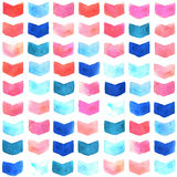 Watercolor geometric seamless pattern Stock Photos