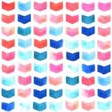 Watercolor geometric seamless pattern Stock Photos