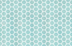 Watercolor geometrical comb pattern. Stock Photos