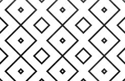 Watercolor geometrical pattern. Watercolor geometrical pattern in black color. For fashion textile, cloth, backgrounds Royalty Free Stock Photography