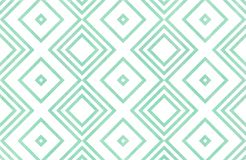 Watercolor geometrical pattern. Watercolor geometrical pattern in seafoam blue color. For fashion textile, cloth, backgrounds royalty free illustration