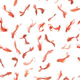 Watercolor golden koi fishes seamless pattern. Can be used for wallpaper, website background, textile printing. Royalty Free Stock Image