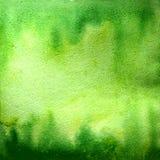 Watercolor gradient background. Green palette. Raster illustration vector illustration