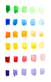 Watercolor gradient palette Royalty Free Stock Photo