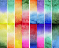 Watercolor gradient rectangles Royalty Free Stock Images