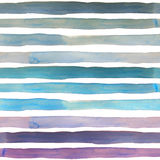 Watercolor gradient stripes  pattern Royalty Free Stock Photography