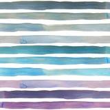 Watercolor gradient stripes pattern. Watercolor gradient stripes seamless pattern vector illustration