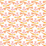 Watercolor graphic leaves seamless pattern. Hand paint background. Can be used for wrapping paper and fabric design. Stock Photos