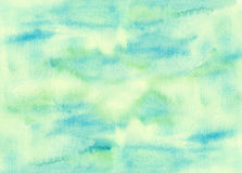 Watercolor green abstract texture background Royalty Free Stock Photo
