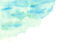 Watercolor green abstract texture brush Royalty Free Stock Photography