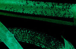Watercolor Green and Black Abstract Background Stock Images