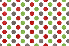 Watercolor green, dark red and grey polka dot background. Royalty Free Stock Photos