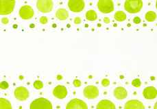 Watercolor green dots Stock Image