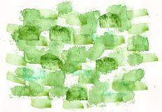 Watercolor green lbackground royalty free stock photography