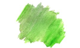 Watercolor green organic background on white stock illustration