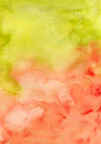 Watercolor green red abstract texture Stock Images