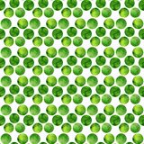Watercolor green seamless pattern.  Polka dots hand drawn. Abstract background with circles. Vector illustration. Stock Photos