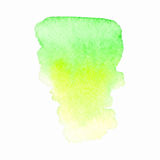 Watercolor green yellow stain Stock Images