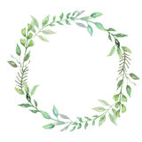 Watercolor Greenery Leaf Wreath Garland Spring Summer Wedding Leaves