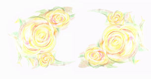Watercolor greeting card with flowers. Royalty Free Stock Photo