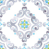 Watercolor grey lace pattern Stock Images