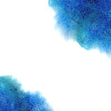 Watercolor, grunge background texture in blue. Royalty Free Stock Photo