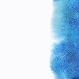 Watercolor, grunge background texture in blue. Royalty Free Stock Images