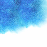 Watercolor, grunge background texture in blue. Stock Photography