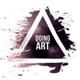 Watercolor-grunge-black-doing-art. Vector watercolor background. Colorful abstract texture. Vector design elements. Vector watercolor splash. Violet art Royalty Free Illustration