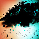 Watercolor Grunge colorful banner background. Vector illustration. Stock Photography