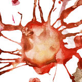 Watercolor grunge stain and sprays Stock Images