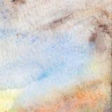 Watercolor beige brown blue cyan vector grunge background.  Stock Photo