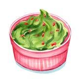 Watercolor Guacamole Στοκ φωτογραφία με δικαίωμα ελεύθερης χρήσης
