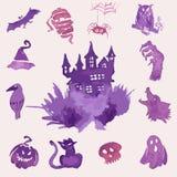 Watercolor Halloween set Royalty Free Stock Image