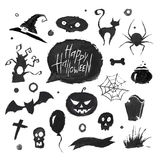 Watercolor halloween set Royalty Free Stock Photography